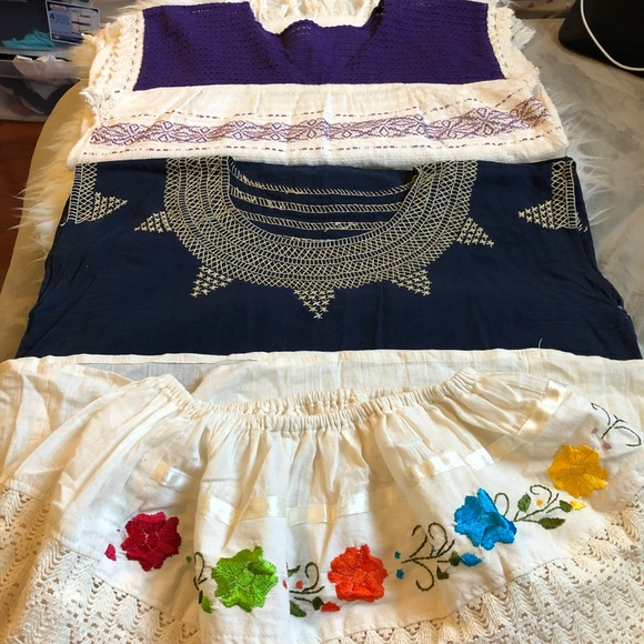 Tops Bundle Of 3 Mexican Inspired Embroidered Blouses Poshmark